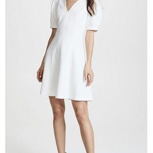 Rebecca Taylor Short Sleeve Texture Dress White